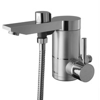 side water inlet electric shower kitchen tankless instant electric heater sink hot tap faucet mixer hot and cold water