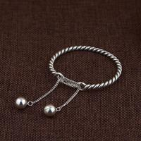High Quality 100% Pure 925 Sterling Silver Bracelets Exquisite Tassel Bangles Adjustable Jewelry for Women Female Free Shipping