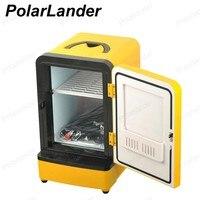 Double Use 12V 7L Mini Portable Car Fridge Multi Function Warmer Travel Home Camping Cooler Auto Refrigerator