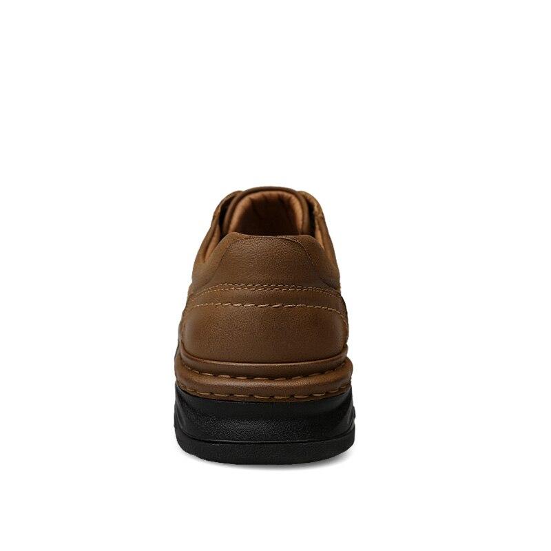 Natural Sapatos Qualidade Boots Ankle Brown Top khaki Botas Alta Trabalho Retro Light Couro Outono De Quality Plataforma Homens xFOxzP