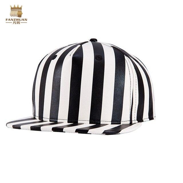 FanZhuan free shipping fashion casual palace hat men's male street cap black white striped hip hop 604007 baseball cap accessori