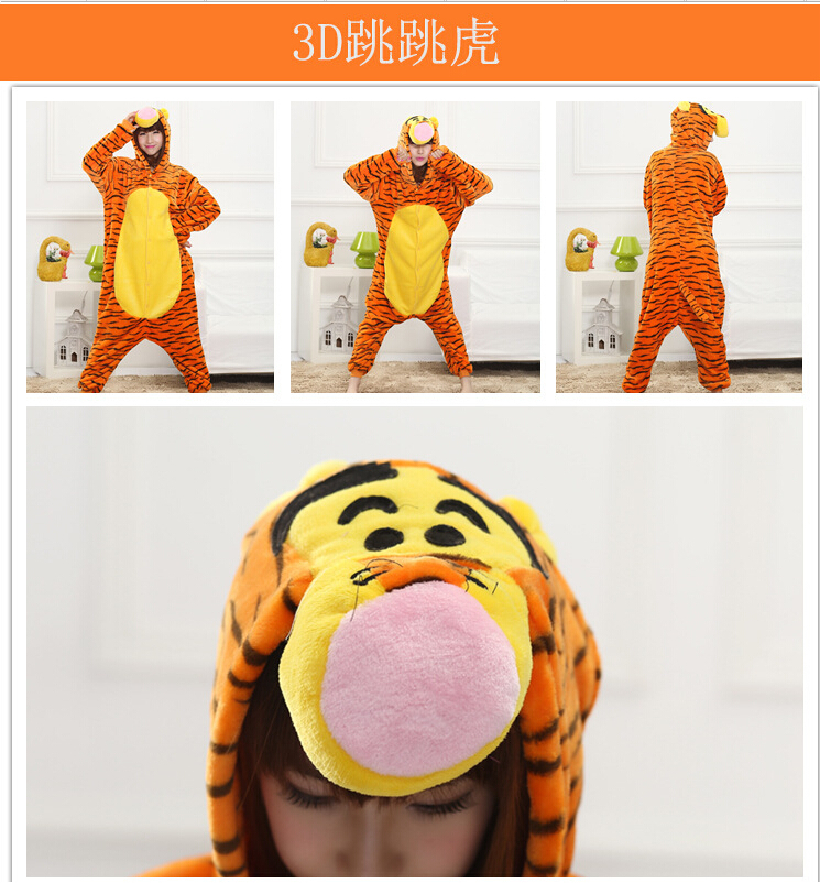 9492501a93 ONLY  31.47!!! Lovely Tiger Onesie Costume Cosplay Winter Pyjamas ...