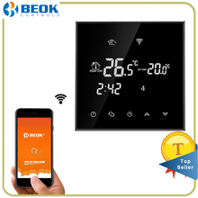 Beok TGT70WIFI-WP Wifi Thermostat For Water Heating Smart Programmable Temperature Controller with Glass Touch Screen