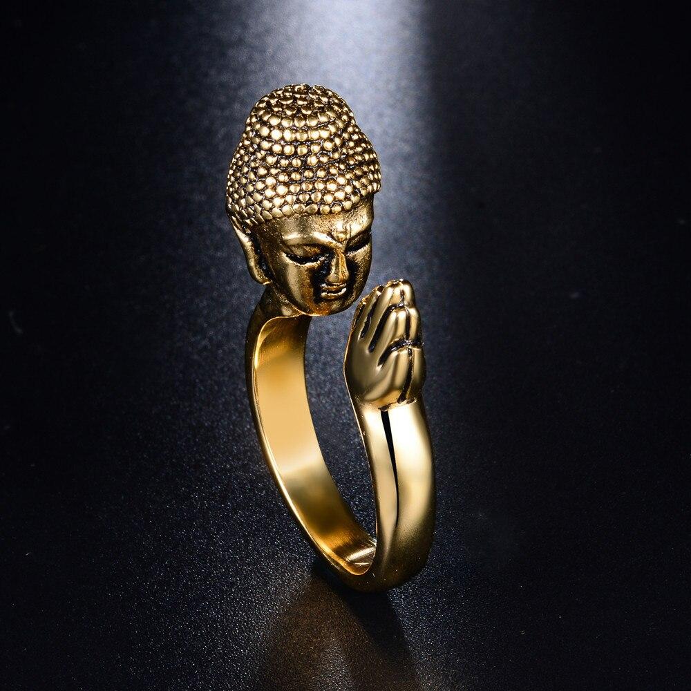 Men's Praying Buddha Ring 5