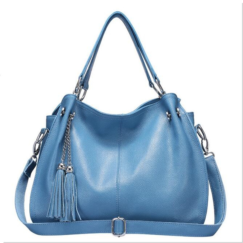 New handbag casual tassels women bag Genuine leather handbags women messenger bags Handbags bolsos mujer clutch composite bag brand women handbag fashion women genuine leather handbags new women bag ladies women messenger bags bolsos mujer