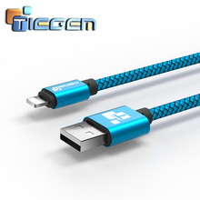 Tiegem USB Charger Cable for iPhone 5 5s 6 6s iPad SE for iPad Air Mini  Wire 1 2 m Car Fast Charging Cord Mobile Phone Cables
