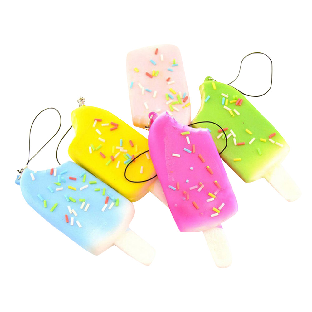 1PC Random Ice CreamSlow Rising Collection Squeeze Stress Reliever Toy Multicolor More Than 6 Years Old Z1208 20#