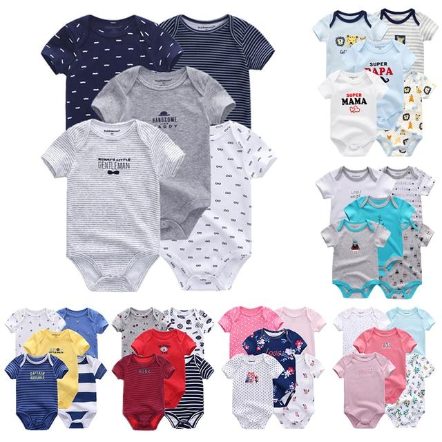 5 шт./партия, Uniesx, комбинезоны для новорожденных, 100% хлопок, комплект одежды для малышей, Roupas de малыш Bebe, одежда для девочек