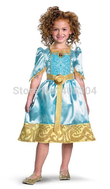 Free shipping Children cosplay Brave Merida princess dress with belt  halloween party dress up  sc 1 st  AliExpress.com & Free shipping Children cosplay Brave Merida princess dress with ...