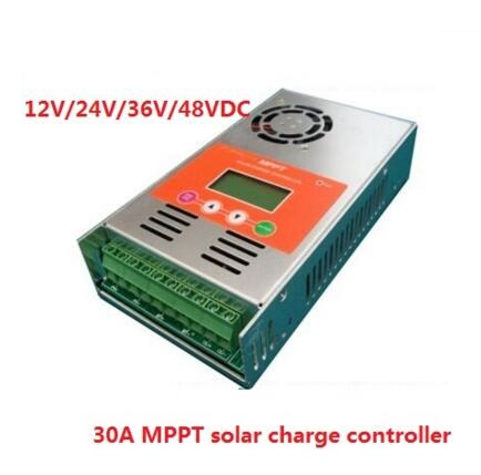 high quality 2 years warranty 30A 12V/24V/36V/48V auto work MPPT Solar Charge Controller Regulator for solar system high quality 12v 24v 48v auto 60a mppt solar charge controller