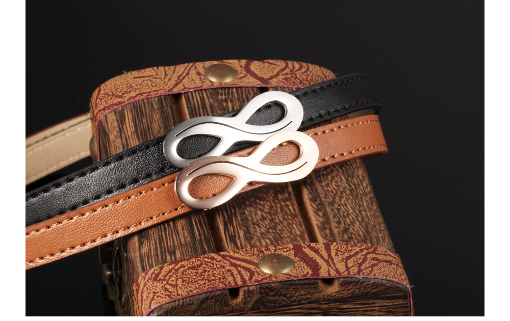 Leather Infinity Design Charm Bracelet
