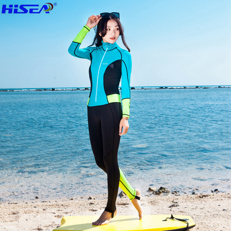 Hisea 0.5mm Wetsuit Women Swimsuit Equipment Diving Scuba Swimming Surfing Spearfishing Suits Triathlon Wetsuits Free Shipping