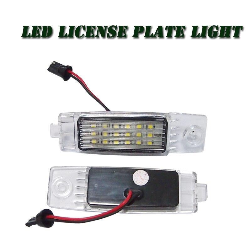 18 LED License Plate Light For Volkswagen VW Caddy Golf Jetta Passat Touran Transporter, 7000K led car number plate light lamp