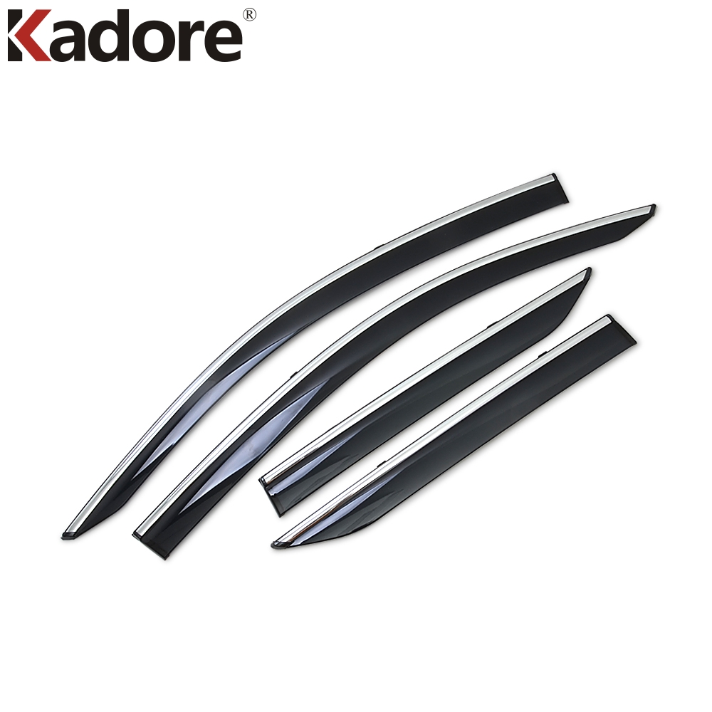 For Toyota CHR C-HR 2016 2017 2018 Car Window Visor Door Rain Sun Shield Side Windows Cover Trim Auto Accessories 4pcs/set jinke 4pcs blade side windows deflectors door sun visor shield for hyundai tucson 2013