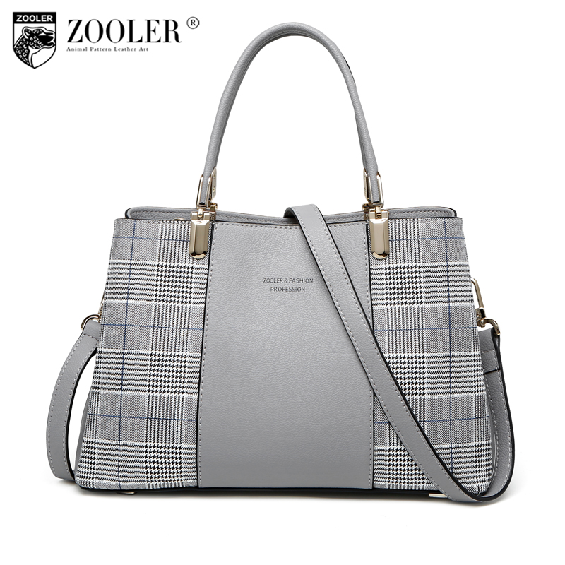 ZOOLER BRAND woman leather bag top handle cowhide leather shoulder bags handbags women famous brand elegant bolsa feminina#h161 hottest new woman leather handbag elegant zooler 2018 genuine leather bags top handle women bag brand bolsa feminina u500