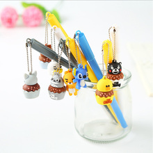 1PCS Creative cute Animal pendant gel pen Kawaii neutral Office School Stationery Supplies  0.5 mm