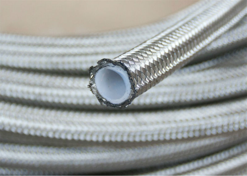 1 Meter An 6 An6 6an Stainless Steel Braided Ptfe Tpfe