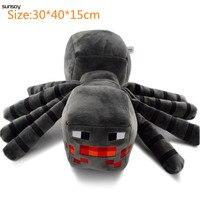 Free Shipping Hot Sale 30*40*15CM Spider Minecraft Plush Toys Plush Dolls Novelty Toy Popular Kids Birthday Xmas Gift Promotion