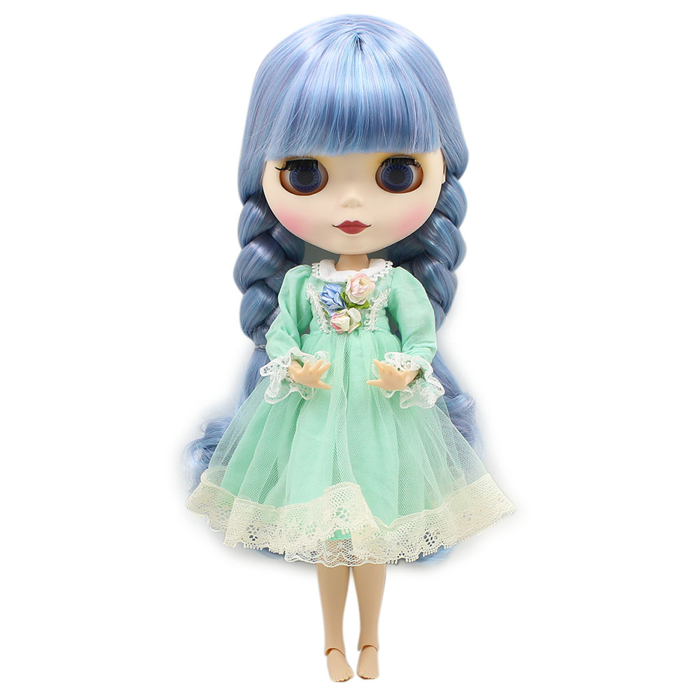 Blyth Joint-Doll Factory Suitable-Makeup Blue On-Sale Hair-Toy Gift NEO Special-Price