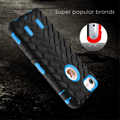 Luxo 3d pneu grão armadura phone case para iphone 5 5s se 6 6 s 7 mais macio tpu 3 em 1 híbrido de plástico rígido à prova de choque capa