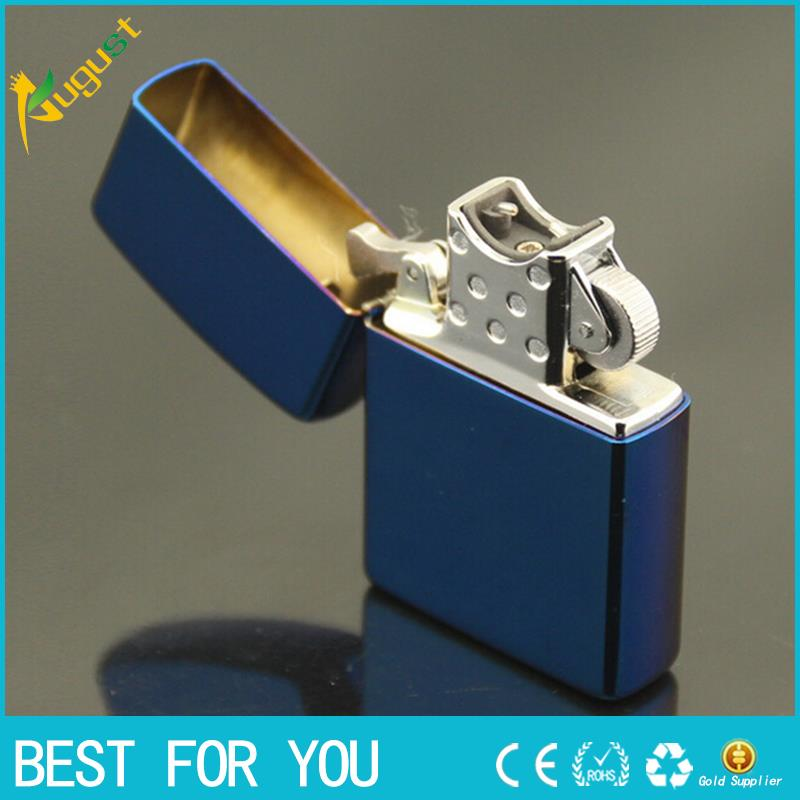 10pcs lot 2016 Male gift blue ice USB charging cigarette lighter usb Cigar butane lighter torch