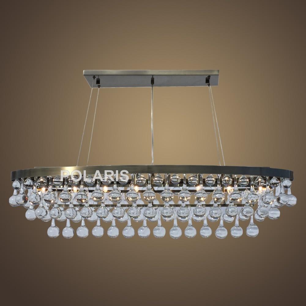 купить Factory Outlet Modern Crystal Chandelier Lighting Oval Chandeliers Antique Brass Pendant Hanging Light for Home Decoration по цене 39982.53 рублей
