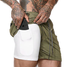 Шорты для бега мужские спортивные шорты двухуровневые спортзала