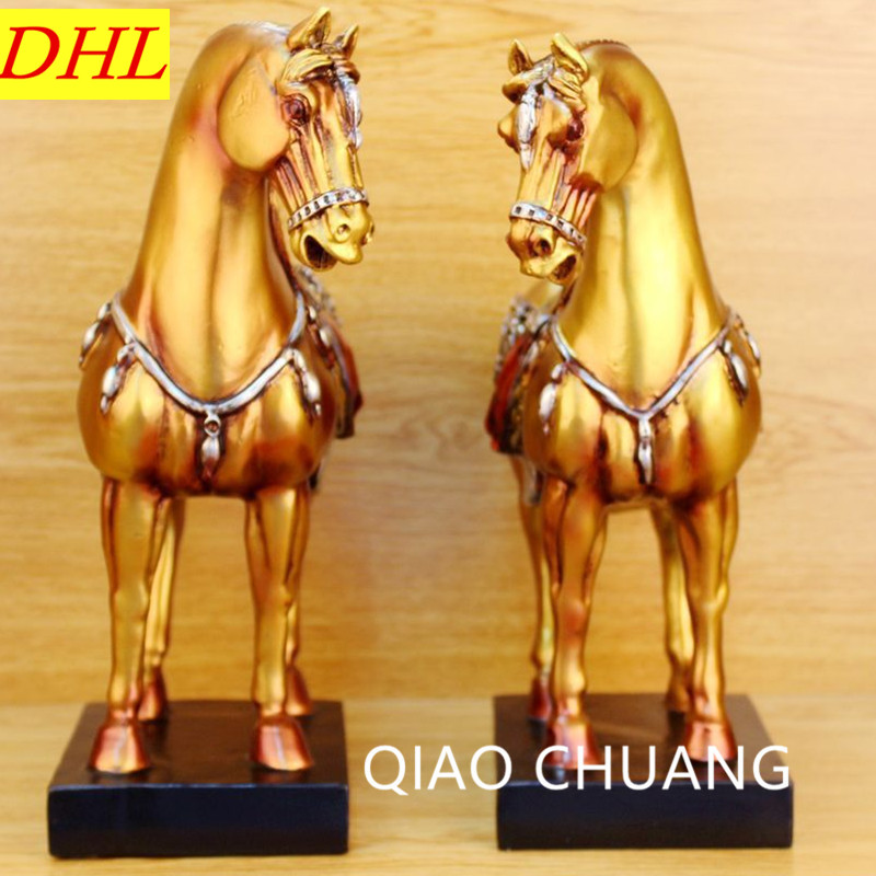 European Style Imitation Of Excavated Horse Resin Sculpture Craftwork TV Bench Furnishing Articles Commercial Gifts S512 dentist gift resin crafts toys dental artware teeth handicraft dental clinic decoration furnishing articles creative sculpture