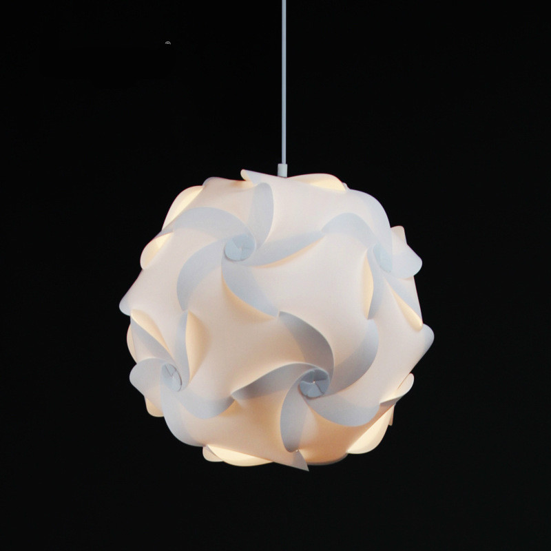 Original Designer Modern Creative DIY PP Ball IQ Puzzle Pendant Light For Dining Room Living Room Bedroom Deco Dia 34cm 1955 magic creative novelty diy iq puzzle pp pumpkin pendant light for living room bedroom dining room deco dia 45cm 1956