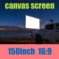150inch16: 9 branco fosco tela de projeção tela multi útil para projetores de home theater 3D pode lavar com bordas pretas e buraco