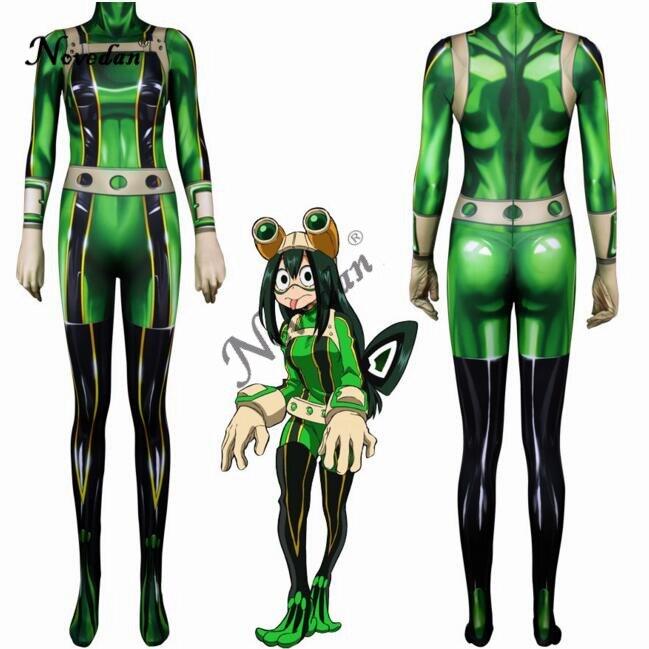 Tsuyu Asui Cosplay My Hero Academy Costume Anime Cosplay Boku No Hero Academia Asui Tsuyu Costume Womens Full Body Suit