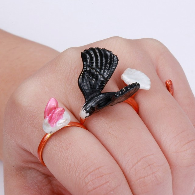 2017 New  3 Piece Ring Raven Playing