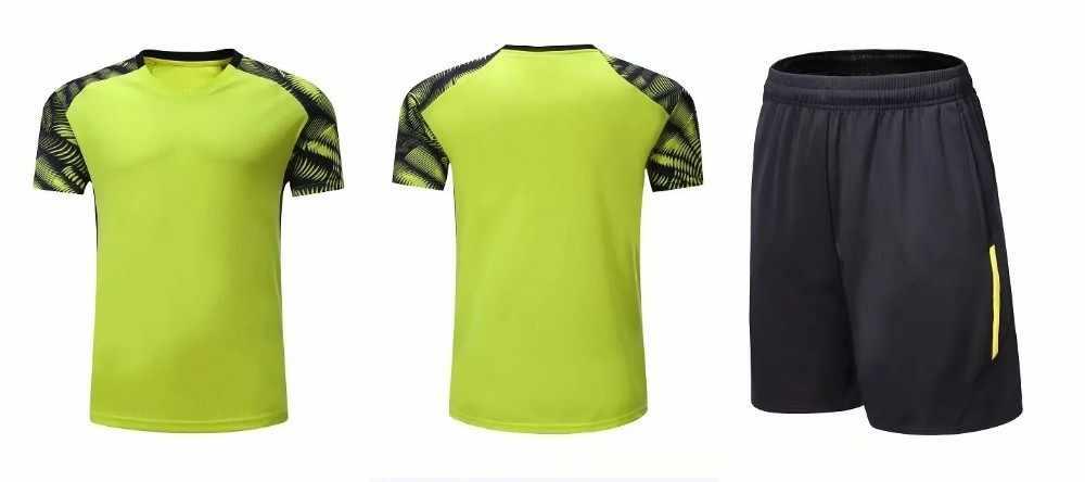 Комплект быстросохнущей дышащей одежды для мужчин и женщин 2019, летняя одежда для тенниса и бадминтона, рубашка + шорты, спортивный костюм, L2054YPC