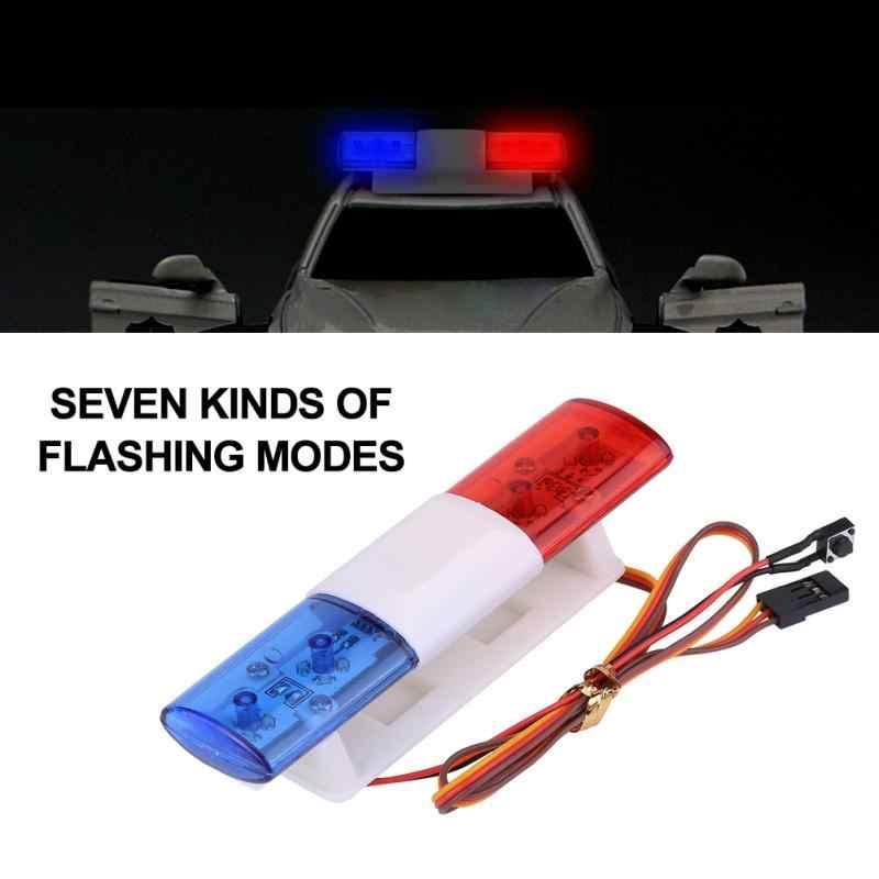 Светодиодный красный Предупреждение ющий автомобиль стробоскоп мигающие огни для дистанционного управления модель автомобиля радиоуправляемая принадлежность семь видов мигающих моделей