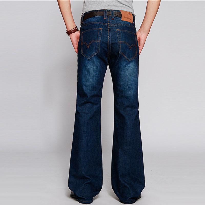 2016 Mens Flared Jeans Boot Cut Leg Flared Slim Fit Mid Waist Male Designer Classic Denim Jeans Pants Bell Bottom Jeans MB16237