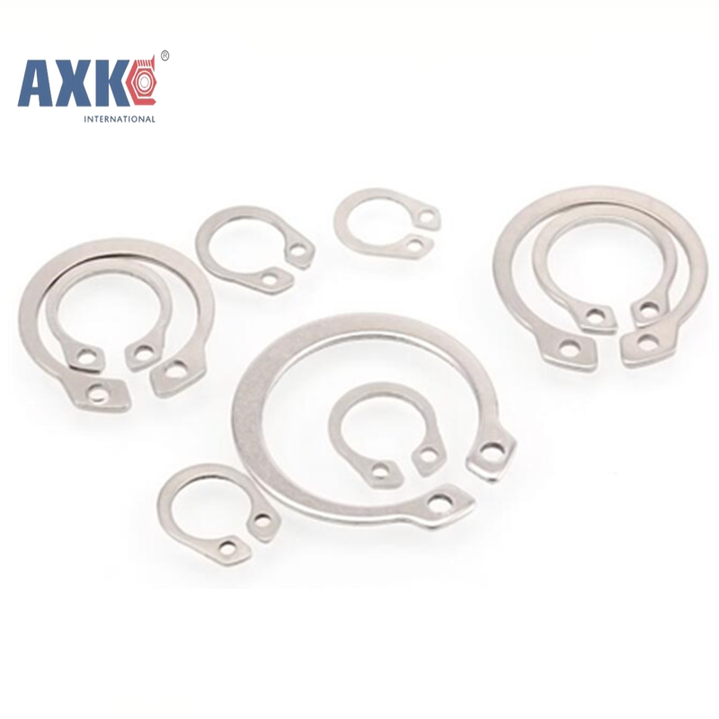 100Pcs GB894 Gourd Type Washer 3mm 4mm 5mm 6mm 304 Stainless Steel C-type Elastic Ring External Circlip Snap Retaining AXK100 подкладное кольцо zfe 3 100 snap ring 3mm