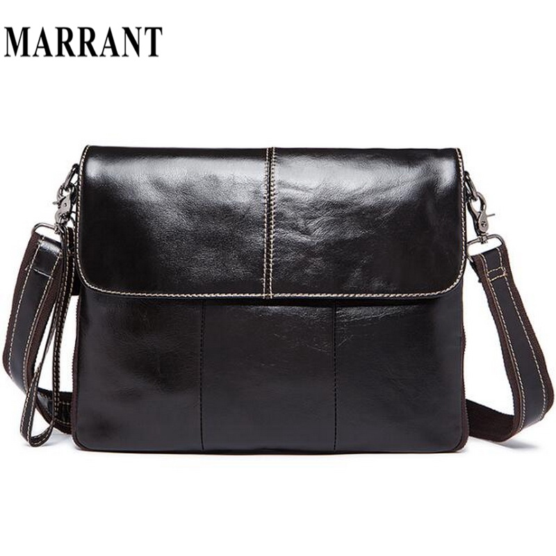 ФОТО MARRANT Genuine Leather bag Men Bags Messenger casual Men's travel bag leather clutch crossbody bags shoulder Handbags 2017 NEW