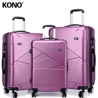 KONO Rolling Luggage Suitcases and Travel Bags Carry On Hand Trolley Case 4 Wheels Spinner Hard Shell PC 20 24 28 Inch K1772L