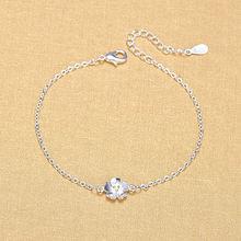 Женский браслет из серебра 925 пробы с цветком вишни