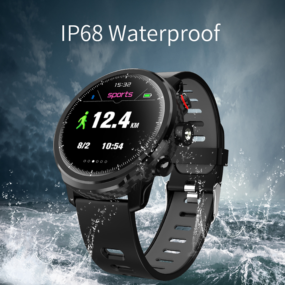 lemfo l5 ip68 waterproof smart watch for men with sports mode heart rate monitoring and weather forecast
