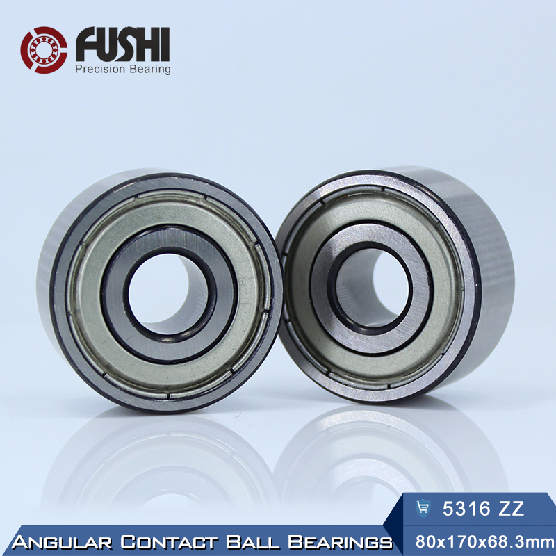 5316 ZZ Bearing 80 x 170 x 68.3 mm ( 1 PC ) Axial Double Row Angular Contact 5316ZZ 3316 ZZ 3056316 Ball Bearings 5311 zz bearing 55 x 120 x 49 2 mm 1 pc axial double row angular contact 5311zz 3311 zz 3056311 ball bearings