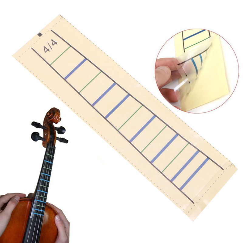 1pc Wear-resistant 4/4 Fiddle Fingerboard Chart Marker Finger For Violin Fretboard Sticker Tape Guitar Parts & Accessories
