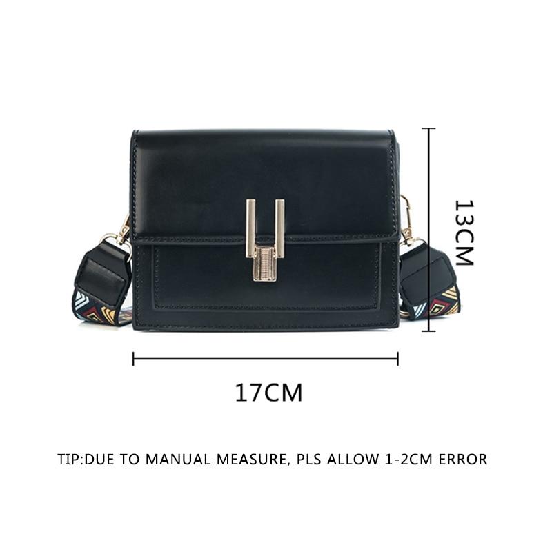 New Women Fashion Width Shoulder Bags INS Popular Female Exquisite Solid Handbag Mini Flap Lady Travel Chains Crossbody SS3474 (4)