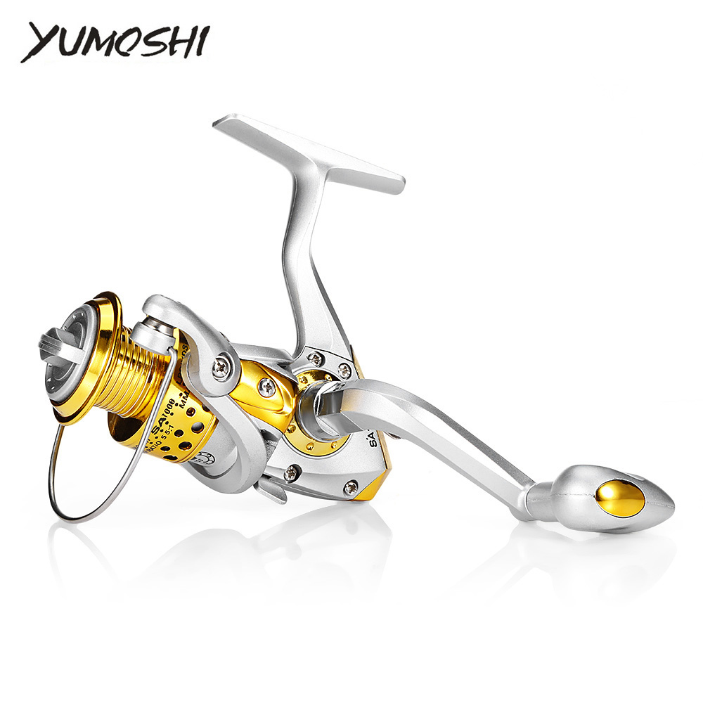 YUMOSHI 12BB 5.5:1 Lightweight Fishing Spinning Reel Metal Spool Right Left Handed Fishing Reels for Freshwater Saltwater