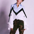 [TWOTWINSYTLE] 2017 Long Sleeve With Bandage Lace Up V Collar Loose Sunscreen White T shirt Women New Summer Clothing