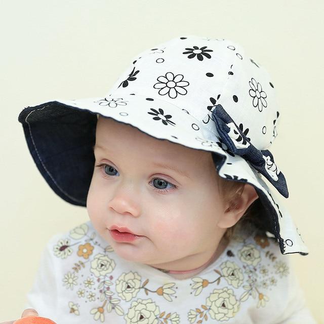 a65fc978302f New Toddler Hat Infant Baby Girls Bucket Hat Cute Denim Cotton Beach ...