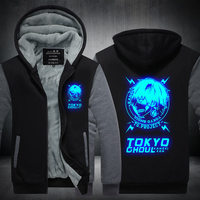YINUODAIL Unisex Winter Tokyo ghouls Printed Hoodie with Pocket Casual Coat Movie Cosplay Costume