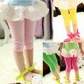 KZ-11, crianças de verão meninas leggings, doces calças lápis de cor sólida, 7 comprimento bezerro