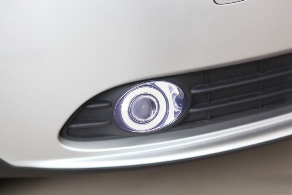 New Innovative COB Angel Eye daytime running light + halogen Fog Light Projector Lens for volvo s40, 2 pcs new innovative cob or led angel eye daytime running light halogen fog light projector lens for chevrolet aveo sonic