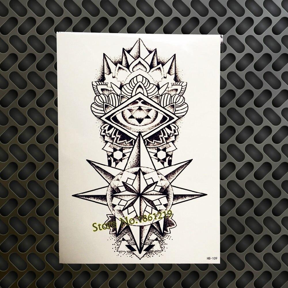 Women Sexy Body Art Arm Tattoo Legs Arm Shoulder Designs GHB64 Flash Fake Black Words Tattoo Keep Clam Lace Henna Paste